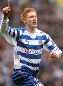 Kitson in his Reading days, the club where he won his only trophy to date.